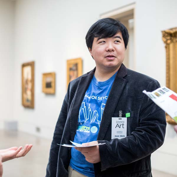 Matt Lee in art museum
